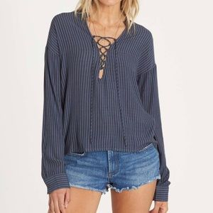 Billabong finding happiness lace up top